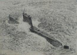 김학량, , 장지에 흑연, 25×35cm, 2018 (사진출처:산수문화)