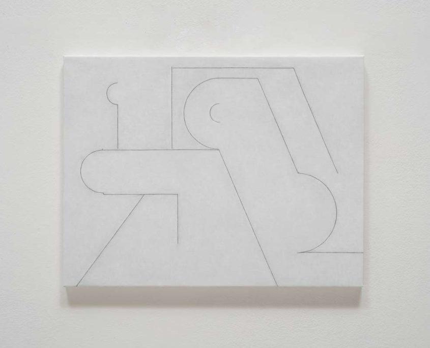 허우중 , 캔버스에 연필, 유채, 41x53cm, 2019