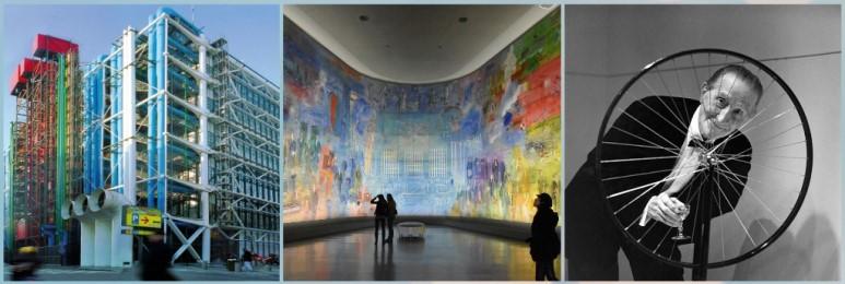 1. 퐁피두센터 2. 파리근현대시립미술관 3. 마르셀 뒤샹