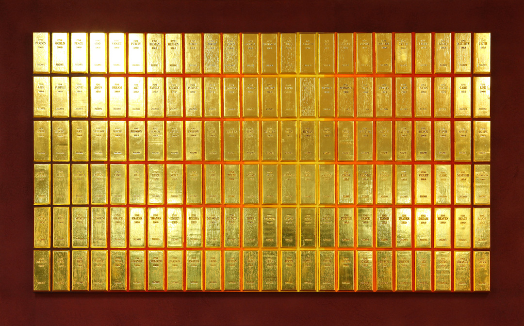 임영조, ,  Gold leaf on Korean Paper, 93×145cm, 2011