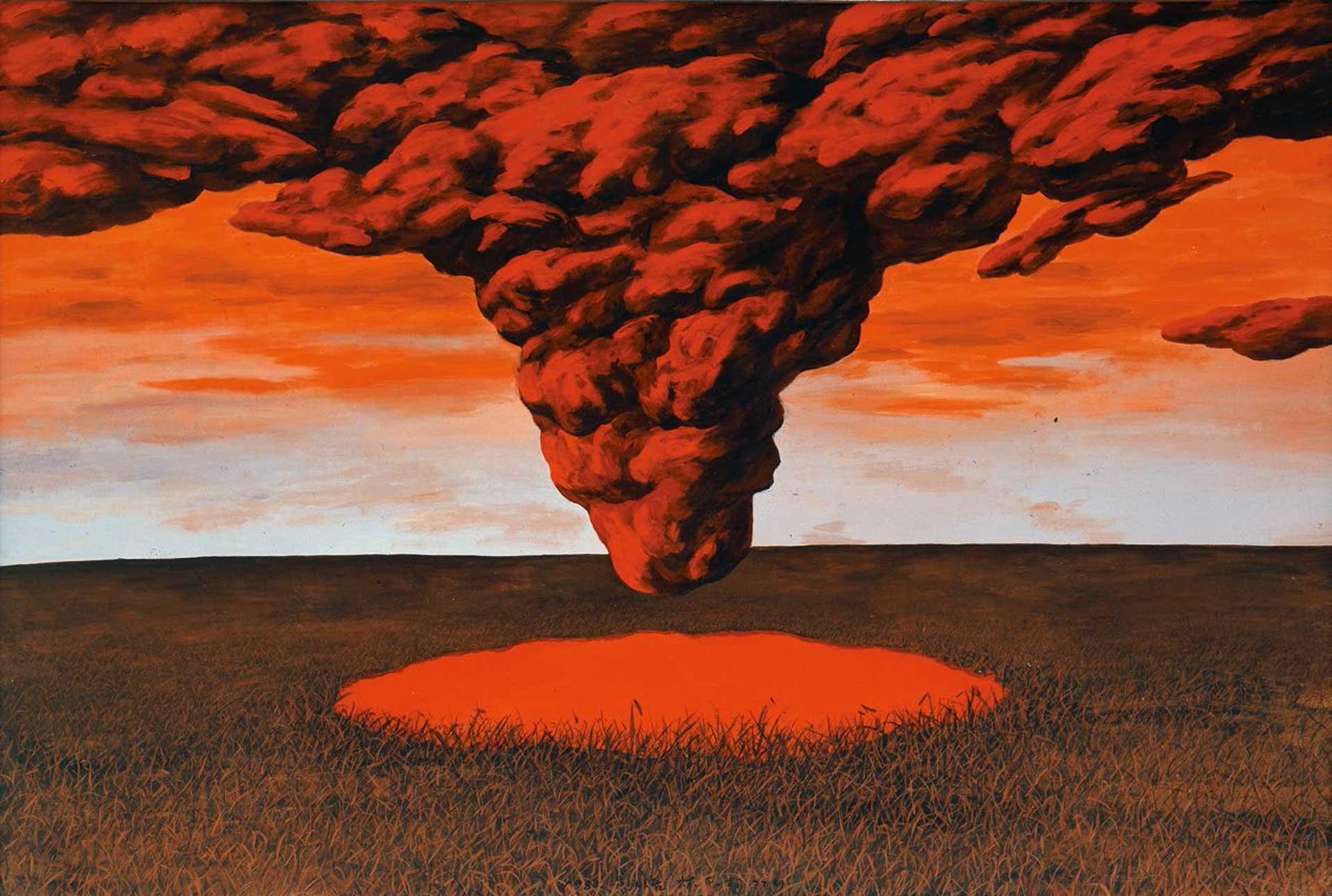 〈 웅덩이2 〉 캔버스에 아크릴, 126×190cm, 1980.