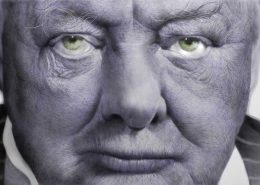강형구, Churchill, oil on aluminum, 122x244cm, 2016